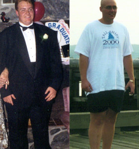 I helped my close friend Matt Leger lose 191 lbs in 18 months. This inspired me to get into personal training.