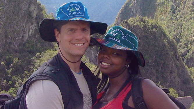 Here we are on our Honeymoon in Peru.